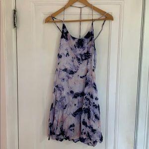 Olive + Oak blue tie dye mini dress